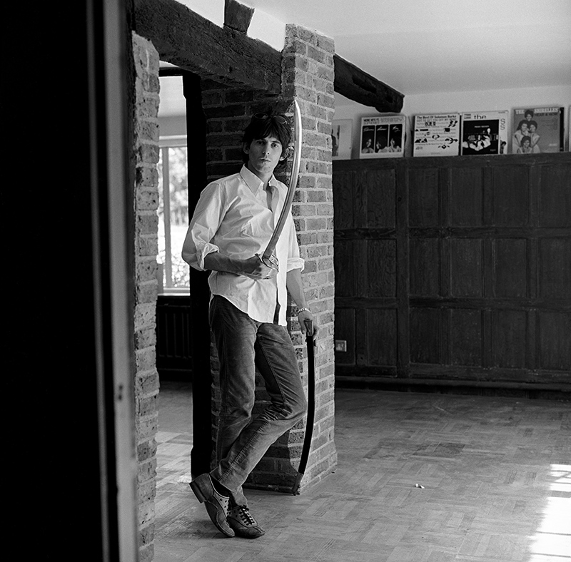 Keith Richards With Sword, at Home, West Sussex, 1966