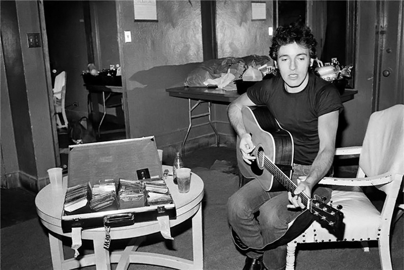 Bruce Springsteen Playing Acoustic Guitar, 1978