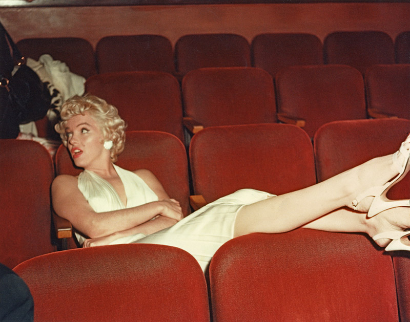 Marilyn Monroe, Studio Screening Room on the Set of The Seven Year Itch, 1954