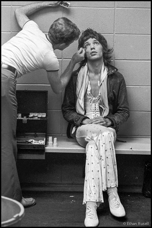 Mick Jagger in Make-up, US Tour, 1972