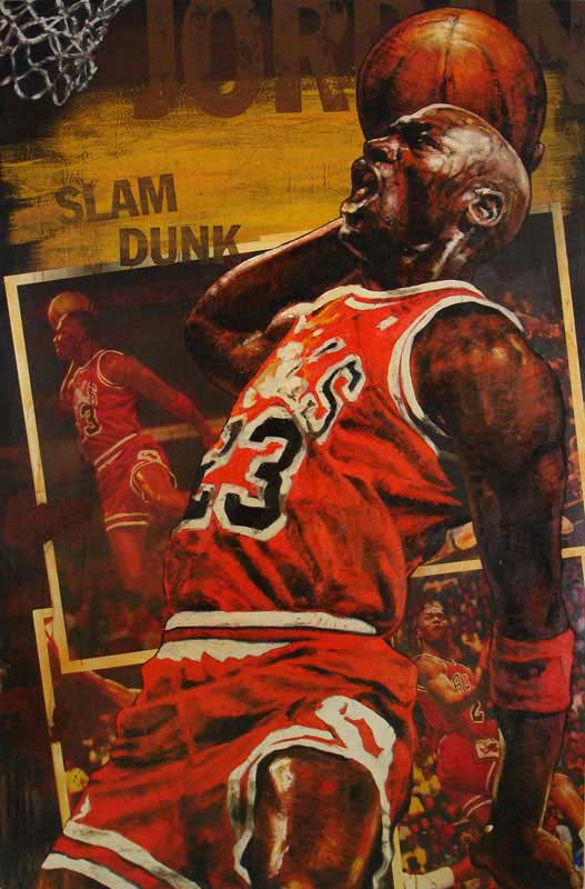 Michael Jordan, Slam Dunk - Chicago Bulls, 2007