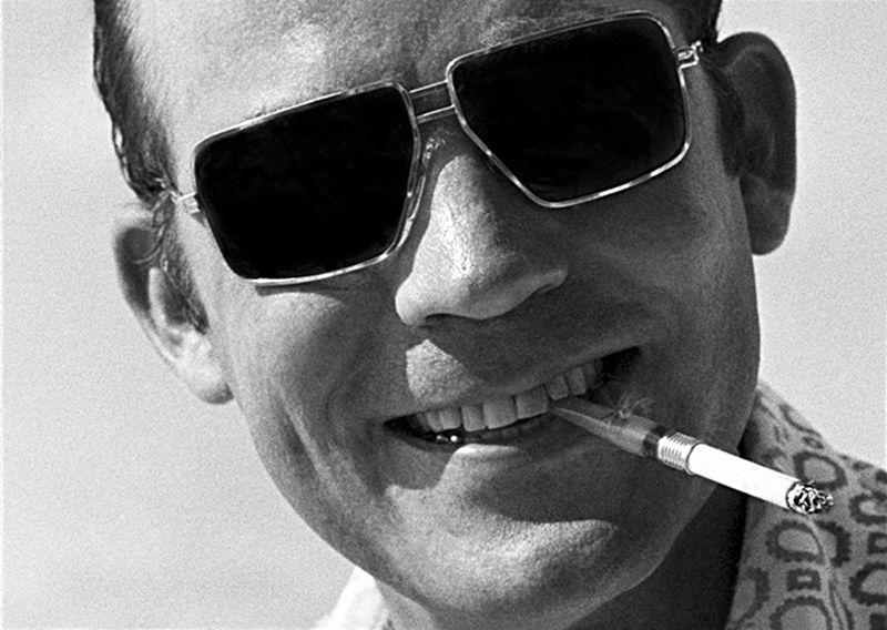 Hunter S. Thompson, Shades and Teeth, Cozumel, Mexico, 1974