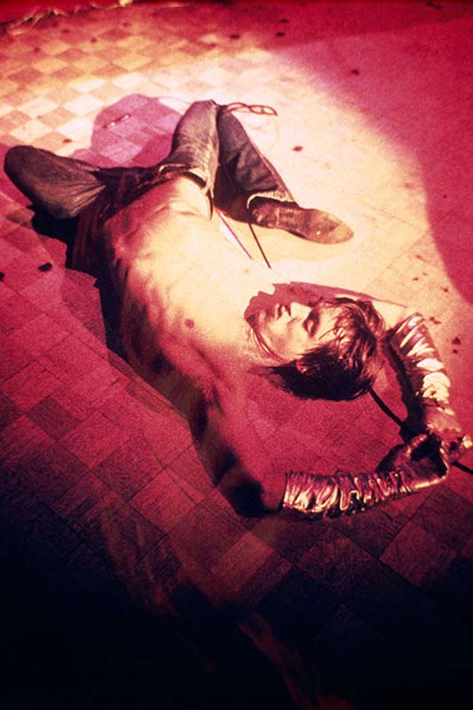 Iggy Pop Lying on the Stage (Pink Spotlight), Whisky a Go Go, LA, 1970