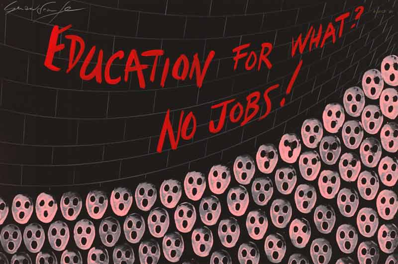 Education For What? No Jobs!, 1981