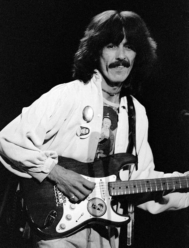 George Harrison Onstage with Guitar, Boston Garden, 1974