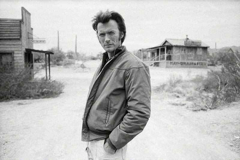 Clint Eastwood on the Set of Joe Kidd, Tucson, AZ, 19721