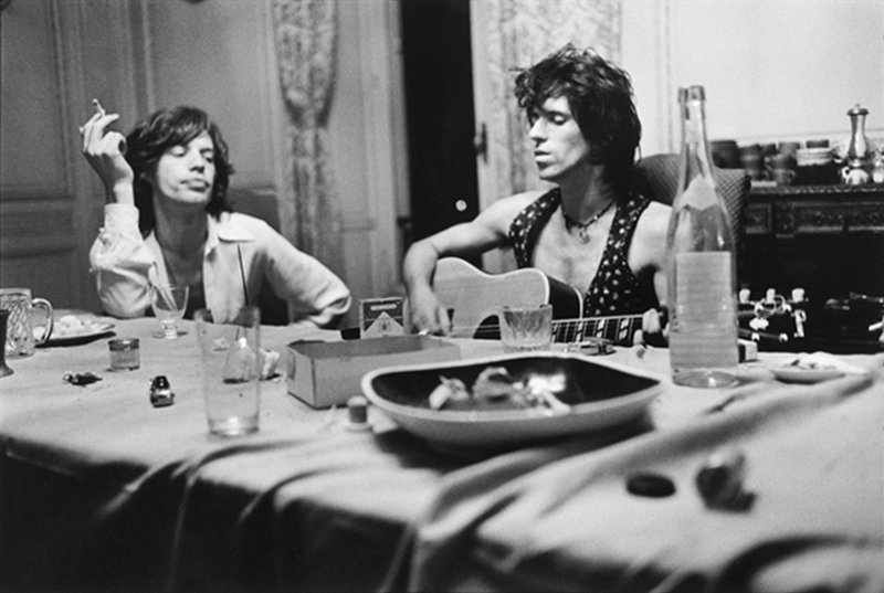 Mick Jagger & Keith Richards at the Dining Table, Nellcôte, France, 1971