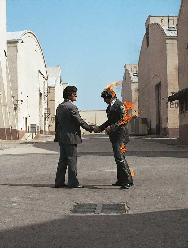 Pink Floyd, Wish You Were Here Album Cover (UK), 1975