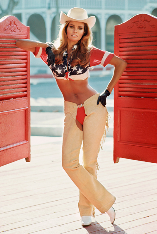 Raquel Welch in Chaps as Myra Breckinridge, 1970