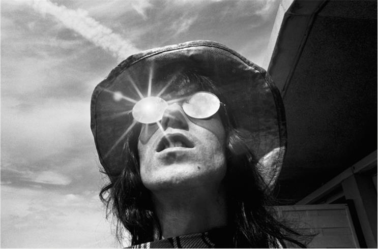 Keith Richards in Mirror Glasses, Morning of Hyde Park Concert, 1969