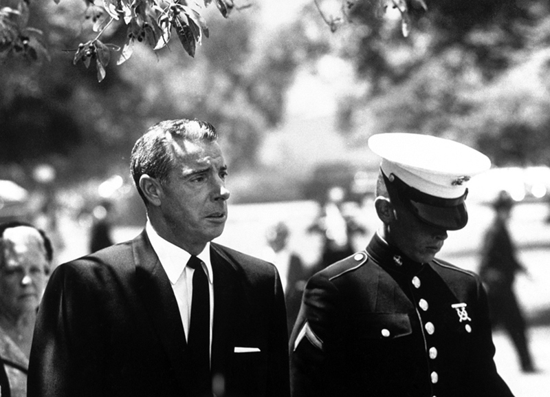 Joe Dimaggio and Joe Jr at Marilyn Monroe's Funeral, August, 1962
