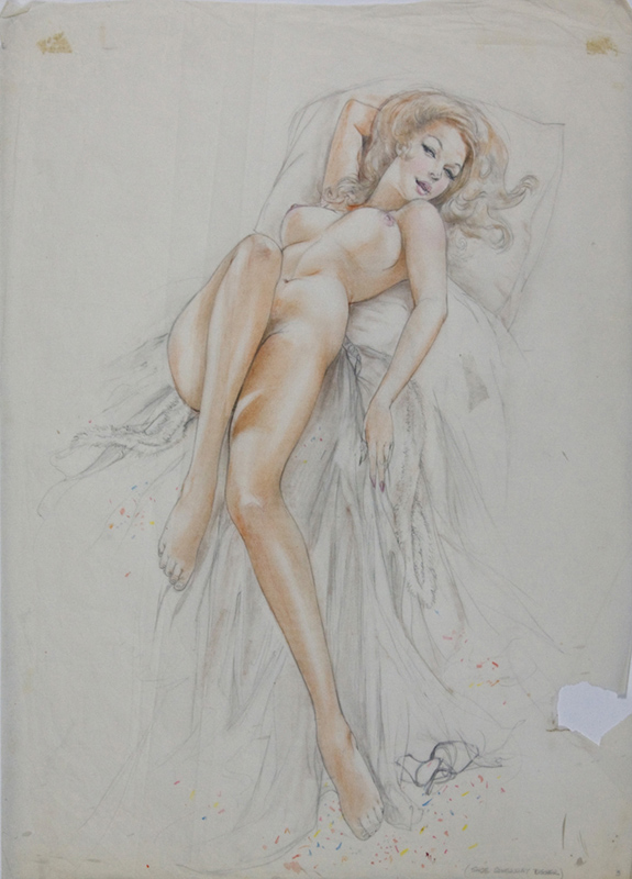 Study of a Reclining Nude Blonde, 1974