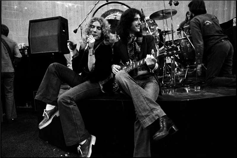 Robert Plant and Jimmy Page Onstage, 1975