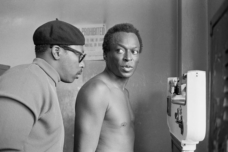 Miles Davis on Scale at Gleason's Gym, New York, NY, October 1969
