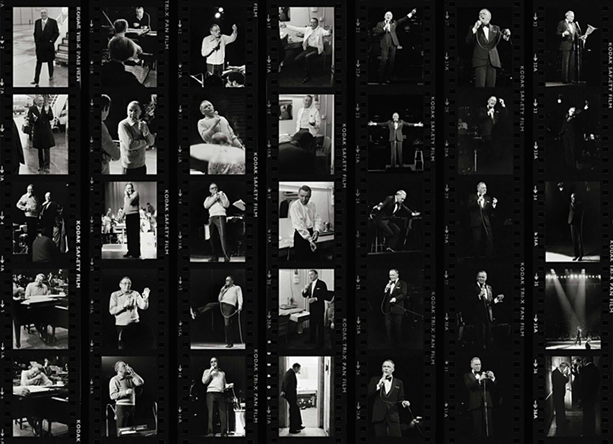Frank Sinatra Contact Sheet, London, 1989