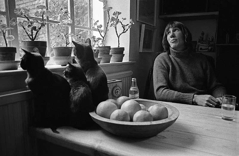 Roger Waters at Table With Black Kittens, in a Basement in Islington, North London, 1970