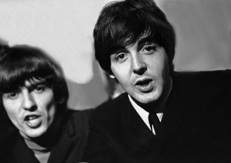 George Harrison and Paul McCartney, Speaking Out, Odeon, Leeds, 1964
