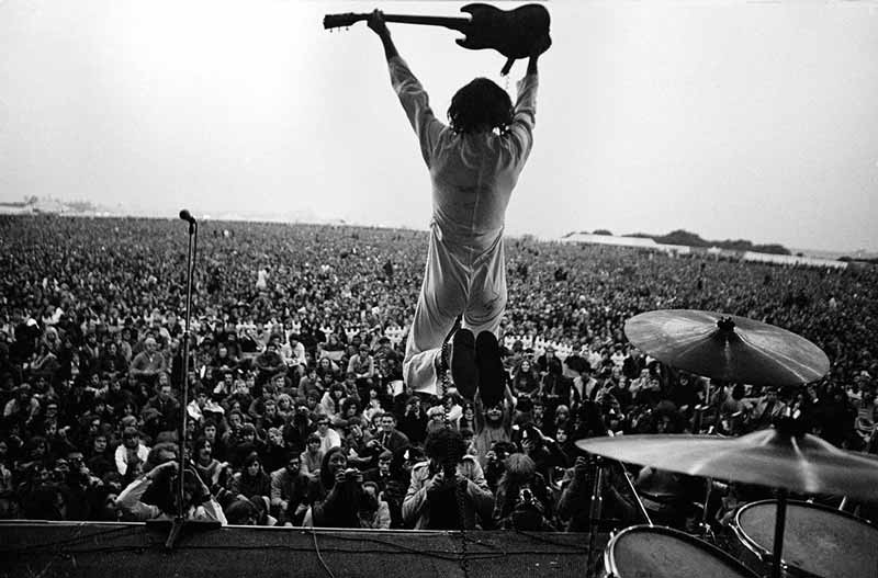 The Who Performing, Isle of Wight Festival, 1969