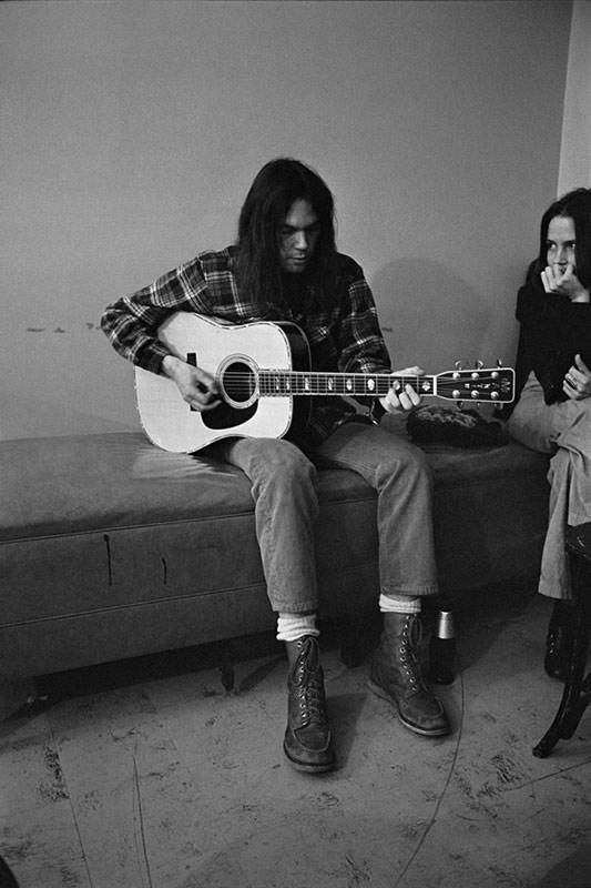 Neil Young Backstage with Kate Taylor, Los Angeles, 1971