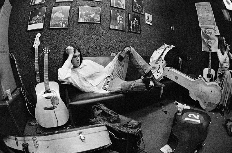 Neil Young Backstage at The Electric Factory, Philadelphia, 1970