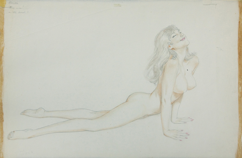 Study of a Reclining Nude Blonde, 1973