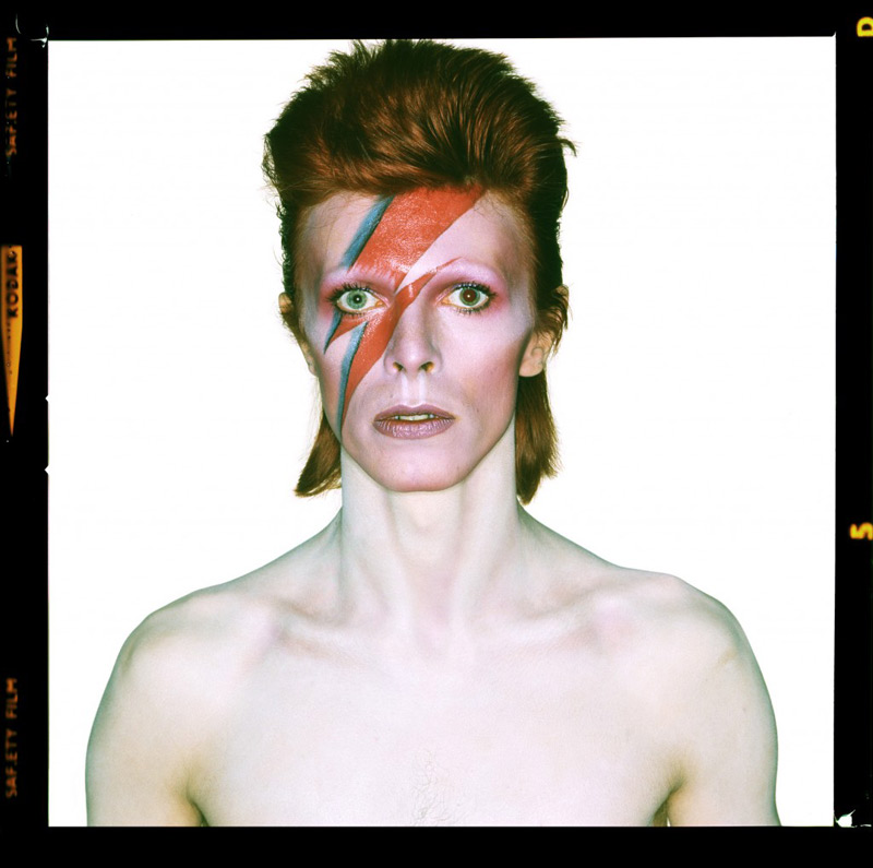 David Bowie, Aladdin Sane Eyes Open - Signed by Bowie, 1973