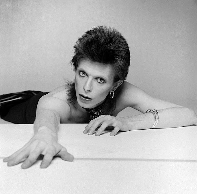 David Bowie Lying, Diamond Dogs Cover Outtake, 1974