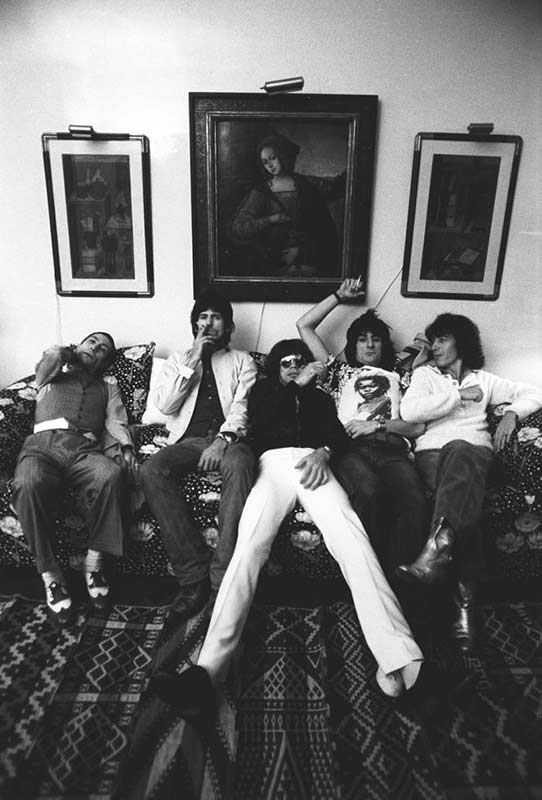 The Rolling Stones on the Couch, NYC, 1977