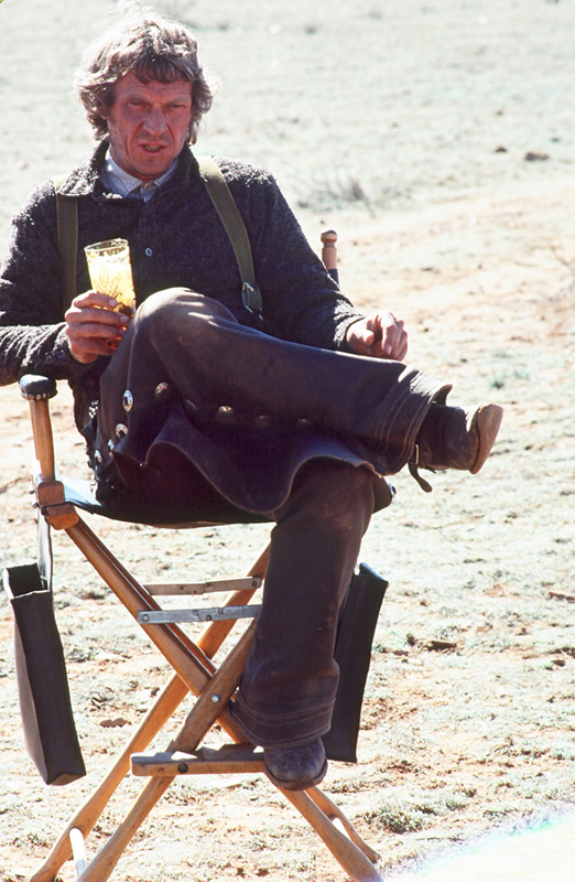 Steve McQueen, Director's Chair, Tom Horn Film Set, Patagonia, AZ, 1979