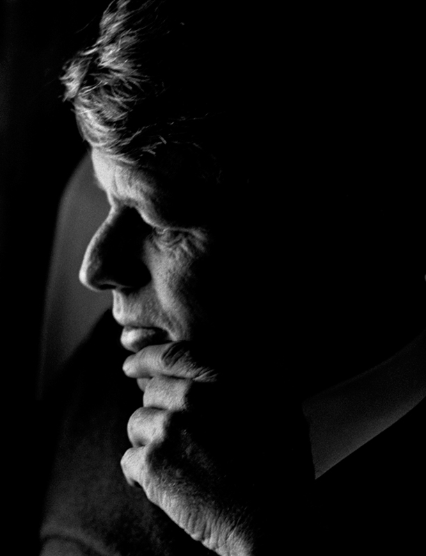 Robert Kennedy, Last Campaign, April, 1968 (Hand on Chin)