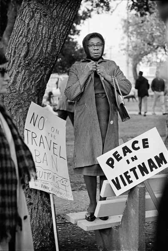 Women's Vietnam Day Committee March No On The Travel Ban, Oakland, 1965