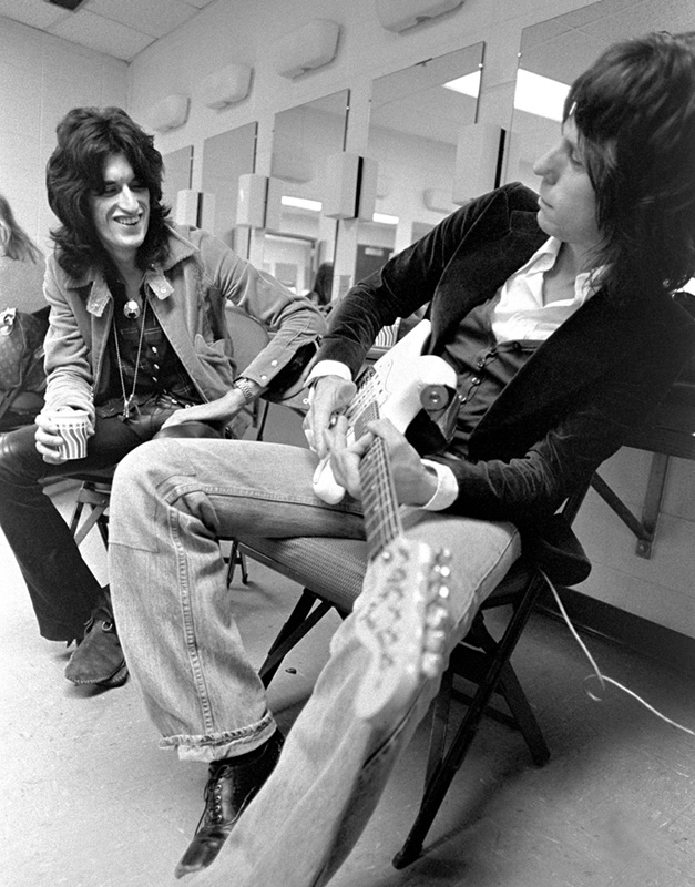 Joe Perry & Jeff Beck Backstage, Providence Civic Center, RI, 1976