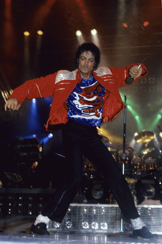 Michael Jackson Performing in Red Jacket, 1984
