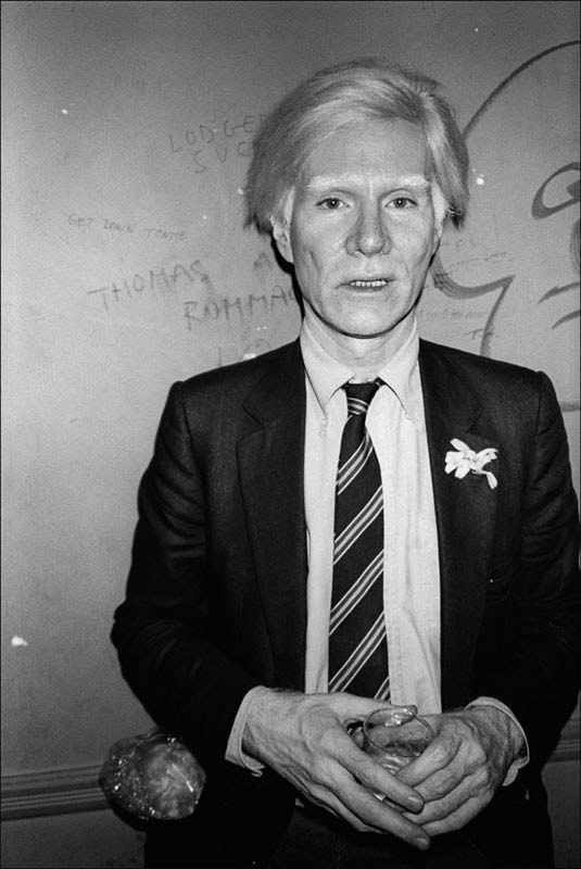 Andy Warhol at the Mudd Club, NYC, 1979