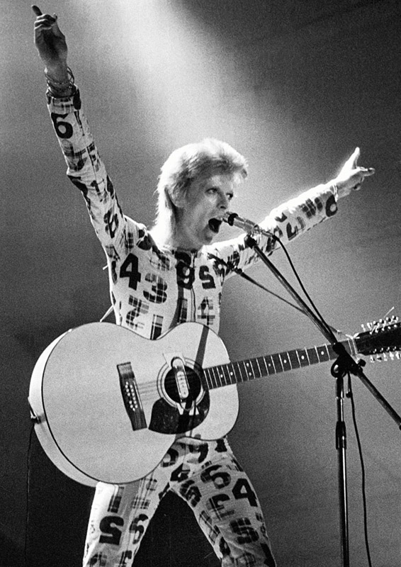 David Bowie with Arms Raised, Newcastle City Hall, 1973