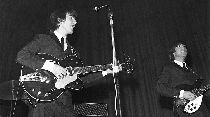 George Harrison and John Lennon, Number One, ABC, Huddersfield, 1963