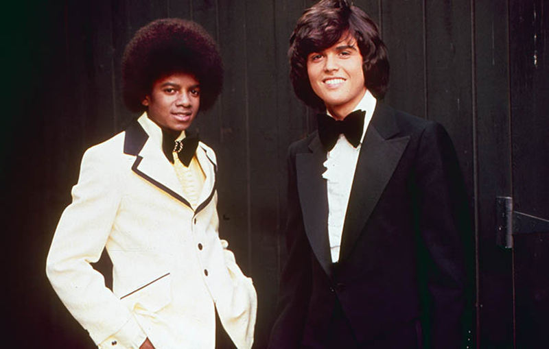 Michael Jackson and Donny Osmond, Los Angeles, 1974