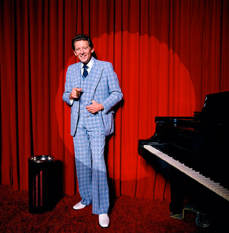 Jerry Lee Lewis in the Spotlight, Los Angeles, c.1970s