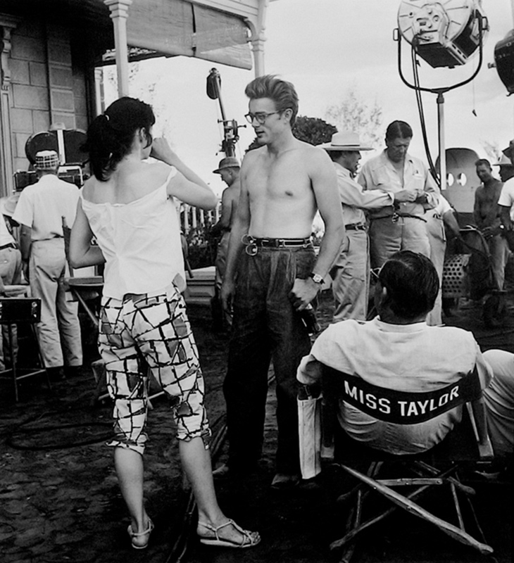 James Dean & Elizabeth Taylor Behind the Scenes on the Set of Giant, TX, 1955