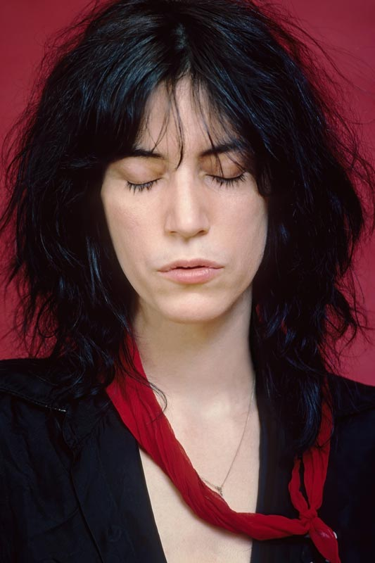 Patti Smith Portrait in Red Studio (Eyes Closed) Studio, 1977