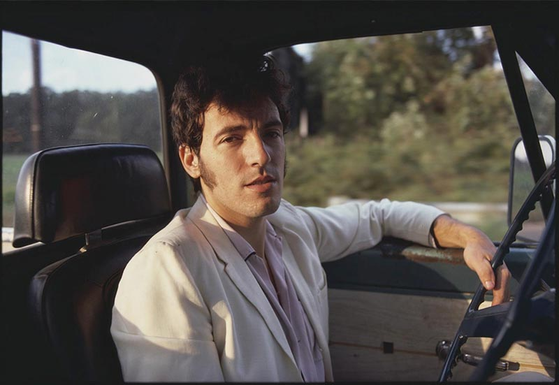 Bruce Springsteen Driving His Pickup at Sunset, New Jersey, 1979