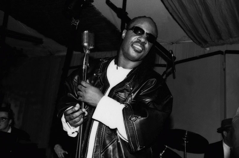 Stevie Wonder at the Mic, 1989