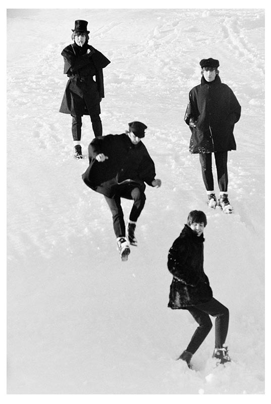 The Beatles Leaping Down Snowbank, Austria, 1965 (Ref.#B25)