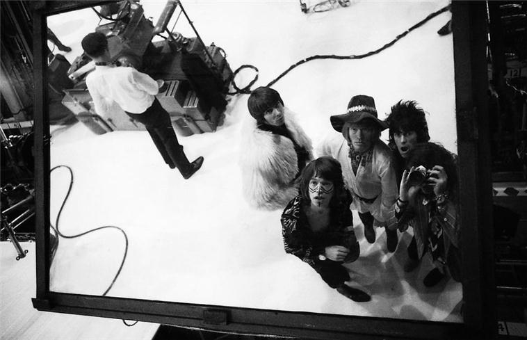 The Rolling Stones Reflection in Mirror, Kevin Brownjohn's Studio, London, 1967