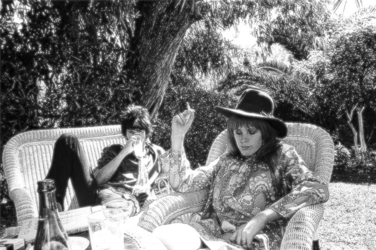 Keith Richards and Marianne Faithfull in a Tangiers Garden, Morocco, 1967
