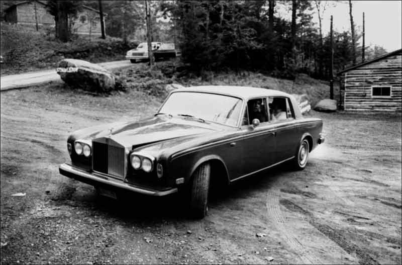 Muhammad Ali in his Rolls Royce, Deer Lake, Pennsylvania, 1977