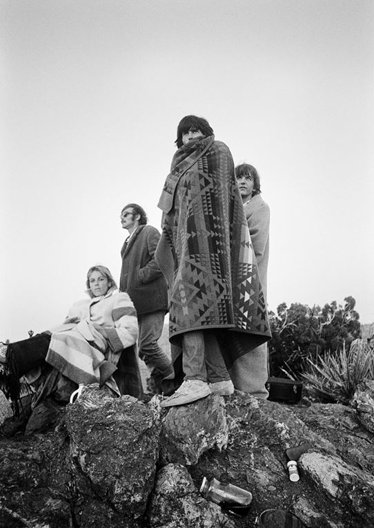 Keith Richards, Anita Pallenberg and Gram Parsons, Indian Blanket, Joshua Tree National Park, CA, 1968