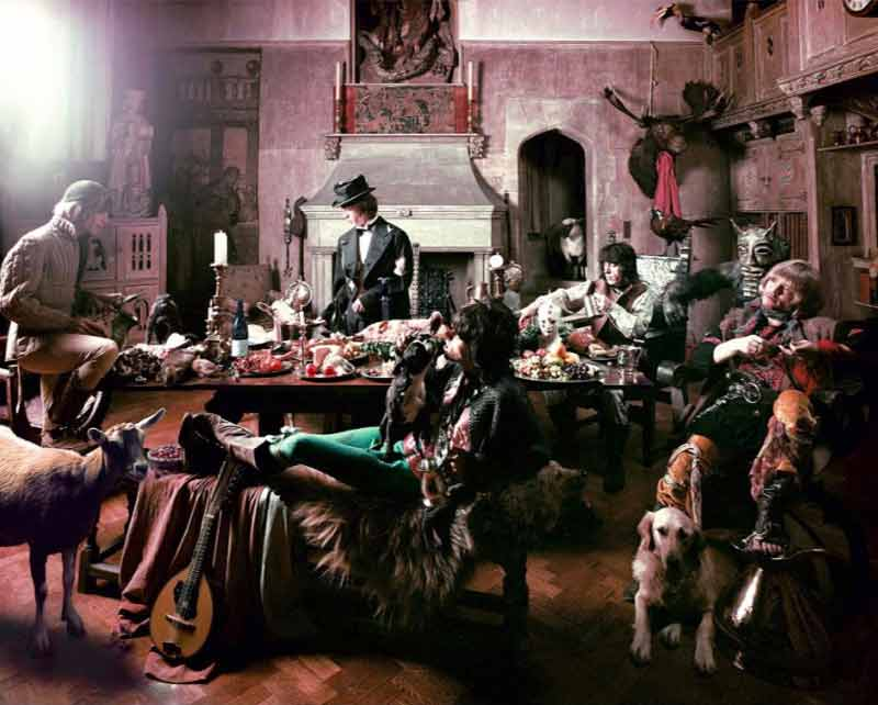 The Rolling Stones - Mick Feeding Goat, Beggars Banquet Album Cover Shoot, London 1968