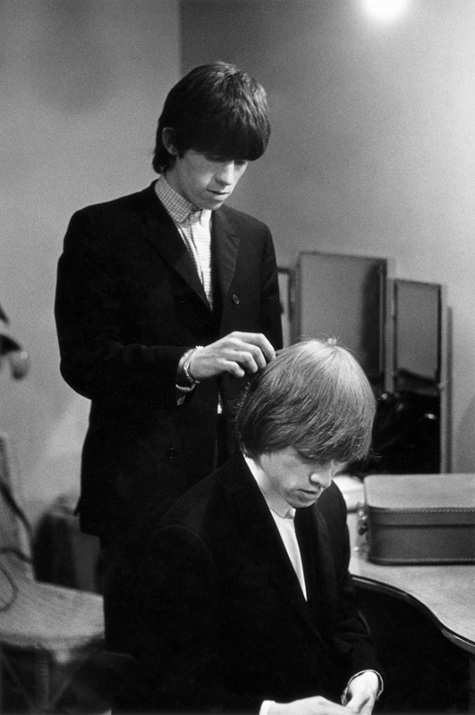 Brian Jones and Keith Richards Backstage, 1964