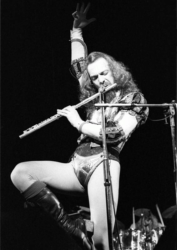 Ian Anderson with Jethro Tull Performing at Hammersmith Odeon, 1975
